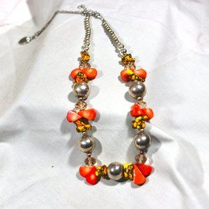 Jewelry - Candy Corn Beaded Halloween Themed Necklace